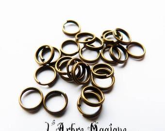 50 double ring bronze 6 mm