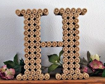 Cork Monogram Letter / Handmade / Perfect for a Vineyard Wedding