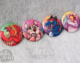 """Mystical Creature Buttons (Pick your Buttons) 1.5"""""""