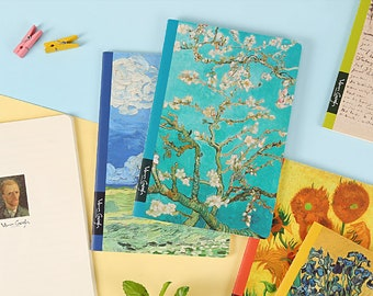 Van Gogh inspired notebook/A5 notebook/stationary/gifts/birthday/art/notepads