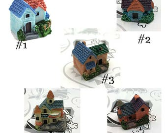 Cottage House - You CHOOSE - Miniature Garden Plants Terrarium Doll House Ornament Fairy Decoration  CH011518
