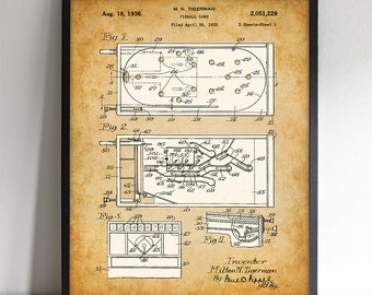 Pinball - Printable Art - Great Gift for Game Room Decor - Instant Download