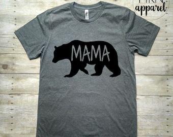 Mama Bear Tshirt, Gift for Mom, Mommy Shirt, Cute Mom Shirt, Mom Life