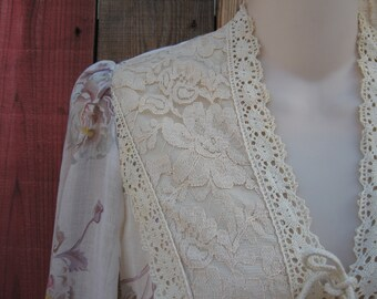Vintage Young Innocents Maxi Dress Boho/Rustic/Country Wedding