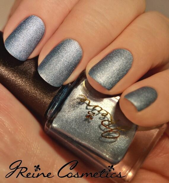 Iced Metal Blue Metallic Matte Nail Polish