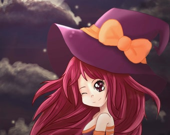 Little Witch Digital art-Print