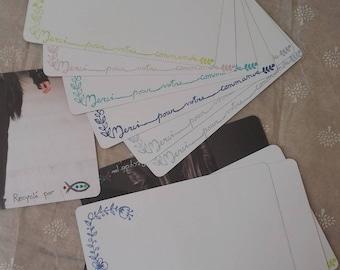 """Carte """"Merci pour votre commande"""" sur papier recyclé avec tampon fait-main - carte remerciement créatrice - carte merci pour mes commandes"""