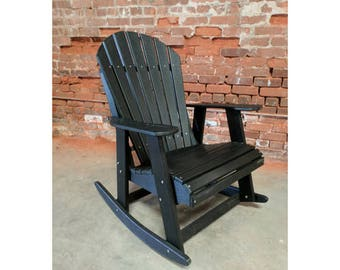 Adirondack Rocking Chair made from Poly Lumber