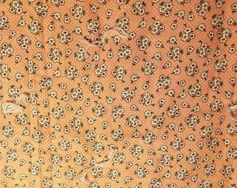 Vintage design peach flowers quilt