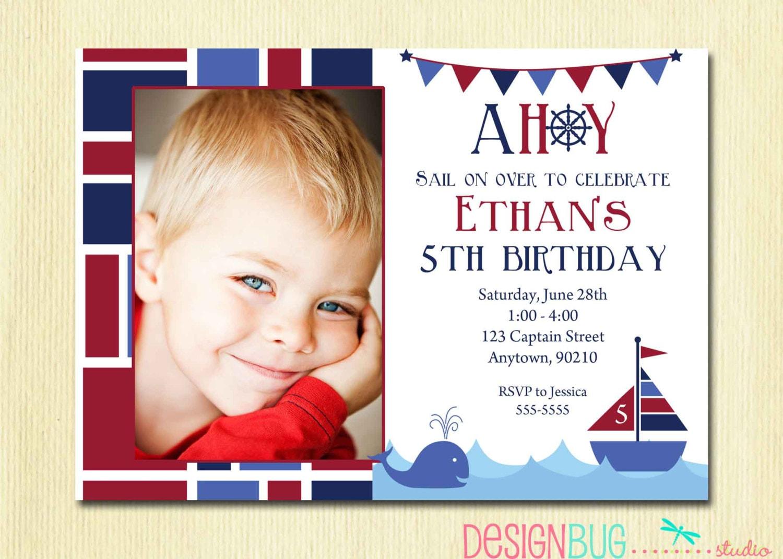 Boys nautical birthday invitation first birthday 1st zoom bookmarktalkfo Gallery