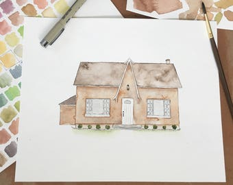 Custom Watercolor Home