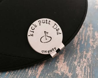 kick putt Dad Golf Ball Marker and Hat Clip Personalized Magnetic - Father's Day - Daddy - Grandpa - Gift for Dad - Christmas Gift