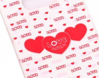 SET of 50 bags POUCHES plastic red heart LOVE