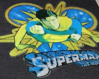 Superman the Movie Vintage Iron On Transfer