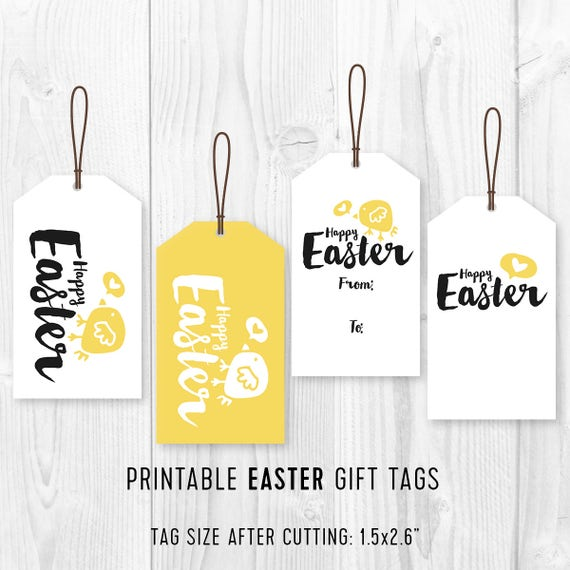 Kids easter party favor tags printable easter favor tags diy kids easter party favor tags printable easter favor tags diy easter chick gift tags minimalist easter gift tags 4 different designs from quqla on negle Choice Image