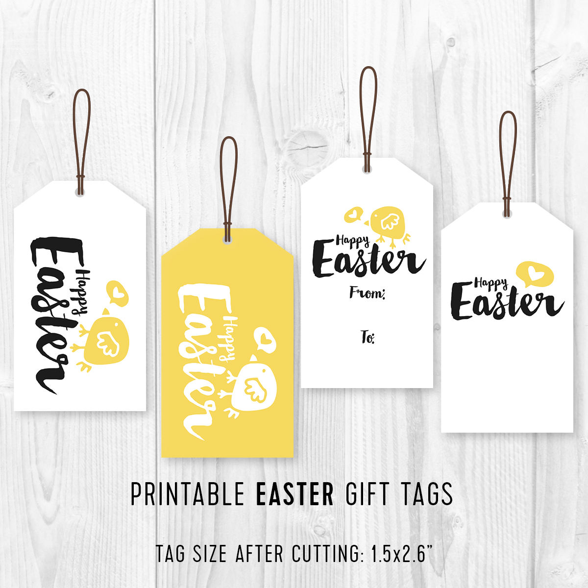 Kids easter party favor tags printable easter favor tags diy this is a digital file negle Choice Image