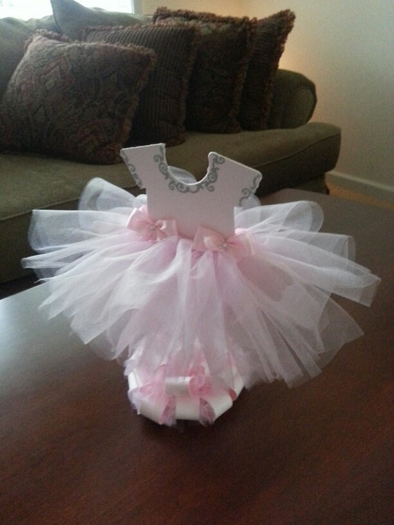 Double Sided Light Pink TuTu Dress Centerpiece (Silver) / Ballerina Baby  Shower / Ballerina Centerpiece