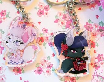 kitsune keychains