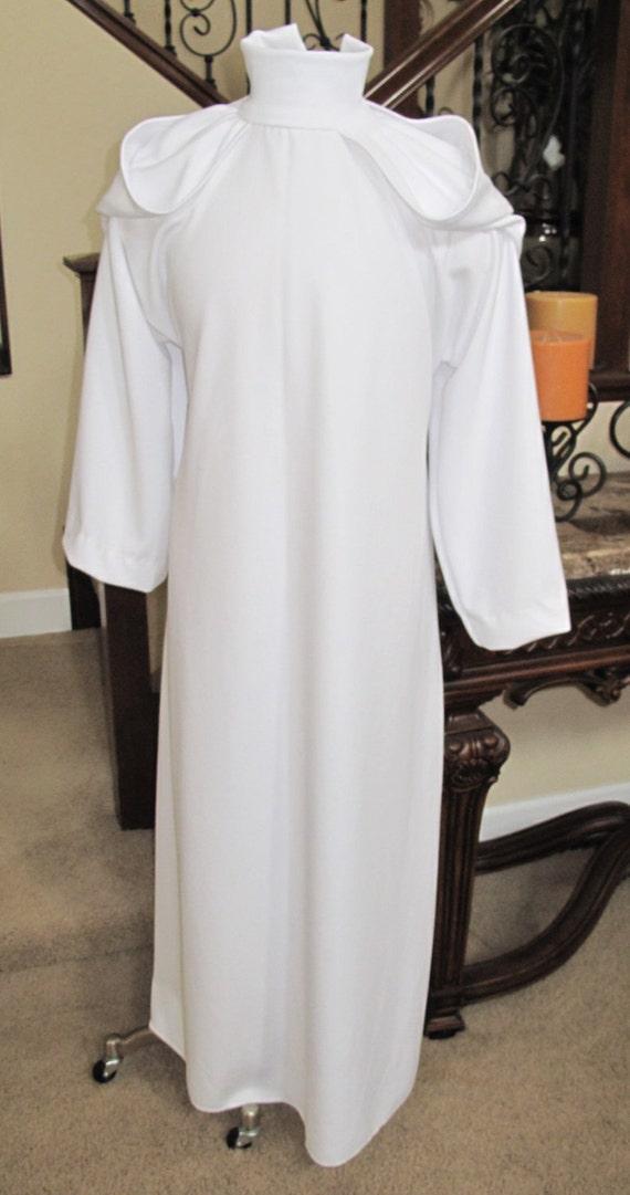Star Wars Princess Leia Organa white dress single layer costume prop in 5 sizes