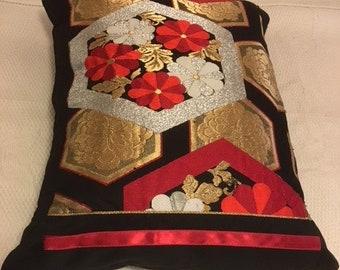 Vintage Japanese Obi Cushion