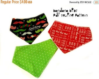 Christmas Baby Bib Pattern, Baby sewing patterns, diy baby shower gifts, Sewing Pattern PDF, quick and easy