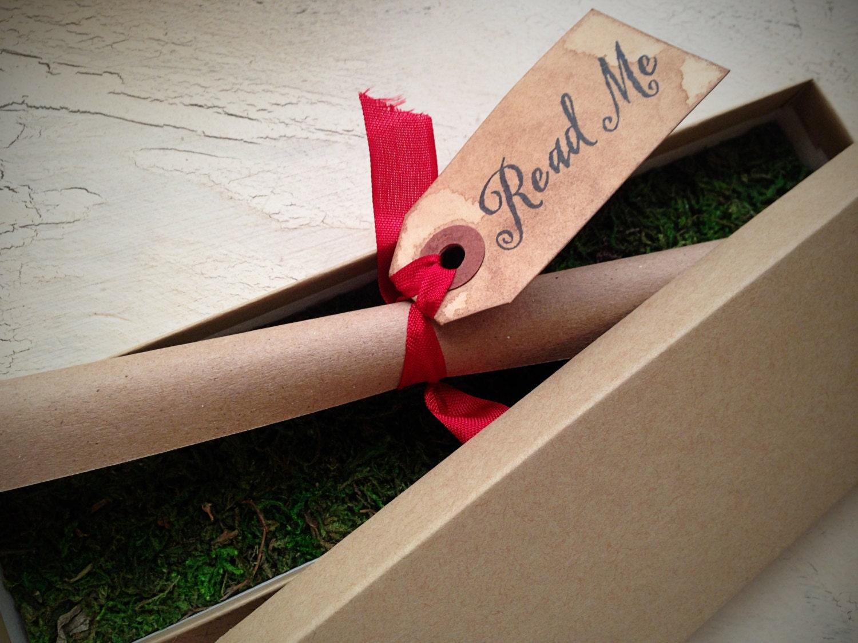Vintage Style Invitation Boxed scroll invitation Shower