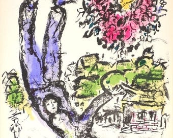 Marc Chagall Original Lithograph DLM Couverture Special 1st Edition Maeght 1964