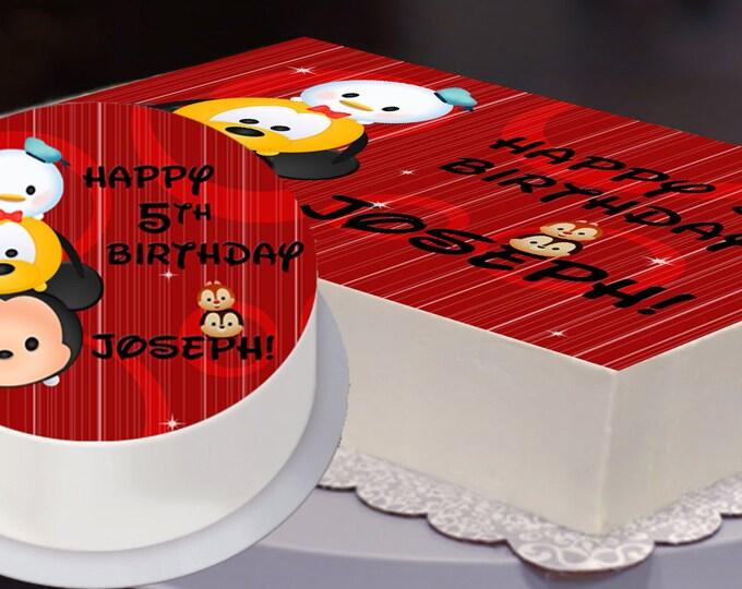 Edible Cake Topper, Tsum Tsum Party, Tsum Tsum Birthday, Tsum Tsum Cake Topper, Disney, Boy Tsum - Digital File