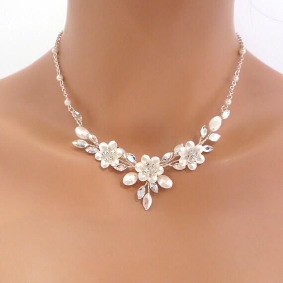 Choker Necklace Etsy: Swarovski Crystal Bridal Necklace And Earrings SET Wedding