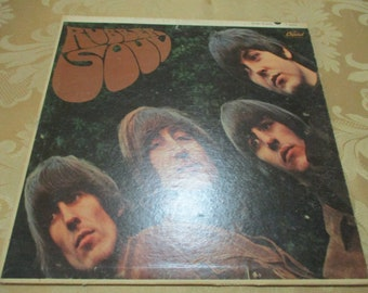 Vintage 1965 LP Record The Beatles Rubber Soul Very Good Condition Mono Version 16865
