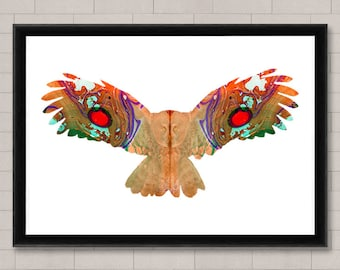 Owl Fine Art Print, Wall Hanging, Home Decor,Wall art