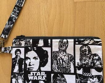 Star Wars Clutch Purse, Pencil Case, Make Up Holder