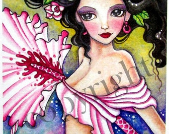 """SALE//*Cross Stitch Pattern by Heaven and Earth Designs (HAED)""""QS A Gypsy Dance"""" Artwork by Ching-Chou Kuik//By Michel Sayetta //On Special!"""