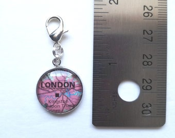 London, England Map Charm / Planner Charm
