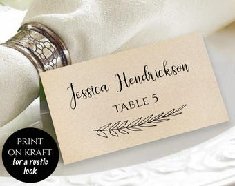 Rustic Reserved Sign Reserved Printable Reserved Wedding Sign - Reserved place card template