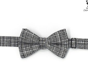 Boys Black and White BowTie, Mens Black and White Bow Tie, Boys Bowtie, Boys Black Bow Tie, Infant Bow Tie, Ring Bearer Outfit, Bowtie
