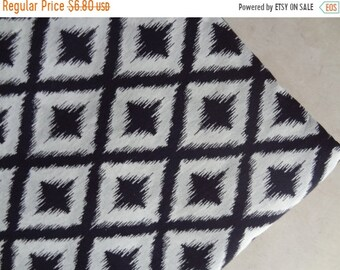 sale Ikat fabric Black and white ikat print soft cotton fabric by yard clothing fabric dress tunic sewing fabric indian fabric ikat pillow