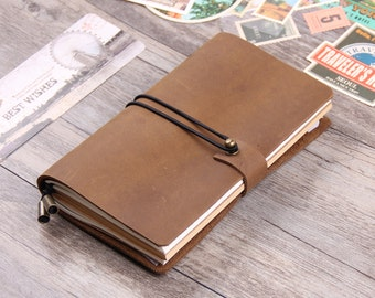 Leather Notebook - Leather Sketchbook - Vintage Refillable Leather Journal Notebook - Handmade Leather Traveller's Notebook - Leather Diary