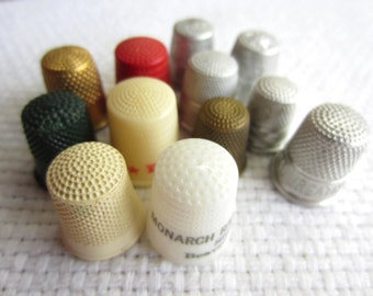 Vintage Advertising Thimbles Collection Set of 12