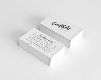 Modern Business Card Design Template - Photoshop Templates - Trendy, Modern, Clean, Minimalist - Instant Download - v4