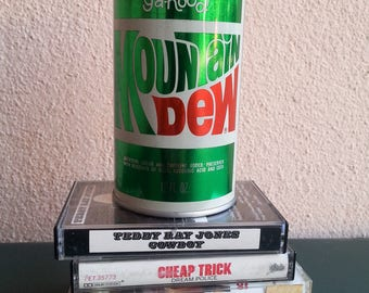 Vintage 70s 80s Mountain Dew can bank