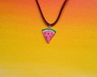 Pink Watermelon Necklace