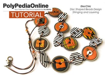 Polymer Clay Tutorial, Jewelry Necklace tutorial, Polymer Clay Beads, DIY Handmade Bead, PDF Jewelry Tutorial, Pattern, Fimo Beads, Video