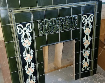 Majolica Fireplace Surround Mantle