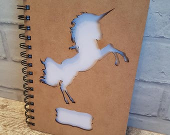 Unicorn Wooden A5 Sketch Book