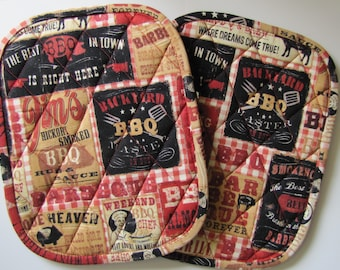 Let's BBQ potholders - set of 2