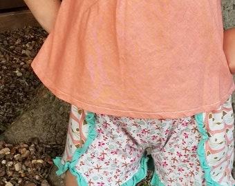 Coachella shorts.  All knit fabric sizes 12 m - 14 girls