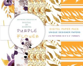 Purple Flower Paper Pack