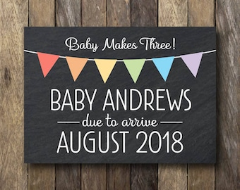 Printable Pregnancy Announcement Card - We're Expecting Card - Printable Pregnancy Reveal - Pregnancy Announcement - Pregnancy Reveal Card