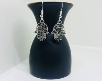 Hand of hamsa earrings | Hand of hamsa | Fatima | Earrings | Hamsa hand earrings | Boho earrings | Boho jewellery | Silver earrings